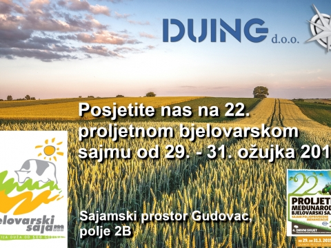DUING participated on International Spring Bjelovar Fair 2019