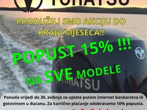 TOHATSU MOTORI NA -15% ! ! !